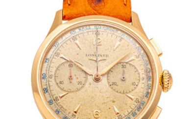 LONGINES REF. 5967, CHRONOGRAPH, 30CH, PINK GOLD, 38 MM