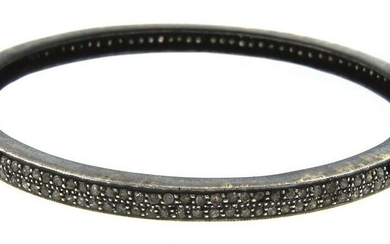 LOVELY Indian Style Silver & Diamond Bangle MODERN!