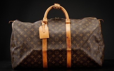 Louis Vuitton, weekend-/rejsetaske, model Keepall 50. Monogram canvas.