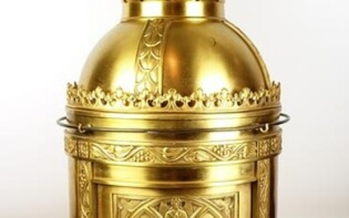 Monumental Late 19th C. Gilt Bronze Cathedral Temple