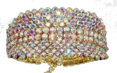Multi-color Iridescent Rhinestone Crystal Bracelet