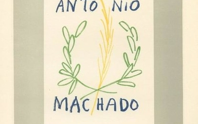 "Pablo Picasso lithograph poster ""Hommage a Antonio"