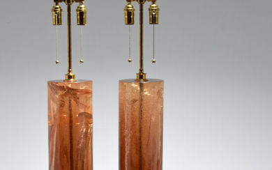 Pair of Large Lamps, Manner of Pierre Giraudon
