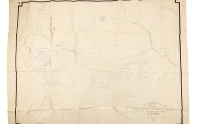 Rare map of Duch Flat CA and its mines
