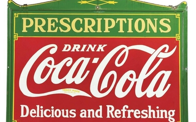 SINGLE-SIDED PORCELAIN COCA-COLA SIGN ADVERTISING