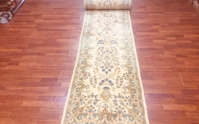 Semi antique persian Kirman Runner-4672
