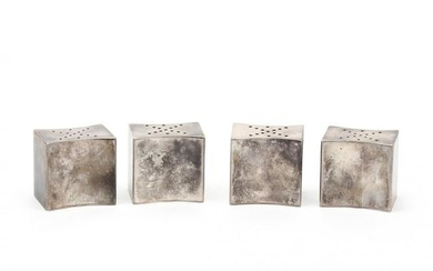 Set of Four Sterling Silver Salt & Pepper Shakers by