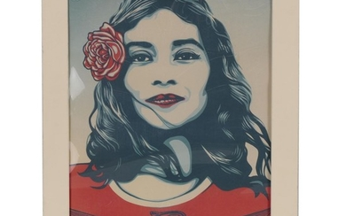 """Shepard Fairey print /""""Defend Dignity/"""" Obey Giant poster 24x32"""