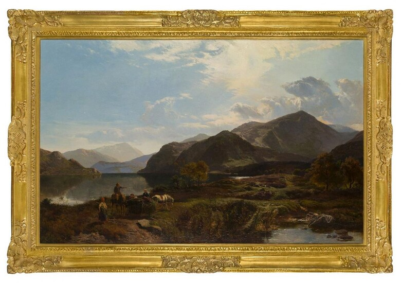 Sidney Richard Percy, British 1821-1886- A Bright Day at Ullswater;...