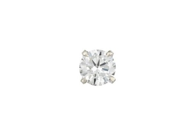 Single White Gold and Diamond Stud Earring