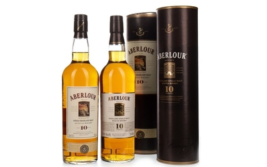 TWO BOTTLES OF ABERLOUR 10 YEARS OLD