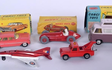 TWO VINTAGE BOXED CORGI VEHICLES, together with a boxed