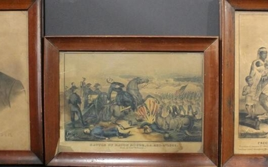 Three 1860s Colored Lithographs