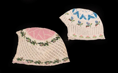 Two 19th Century Knitted Caps, one for a child or...