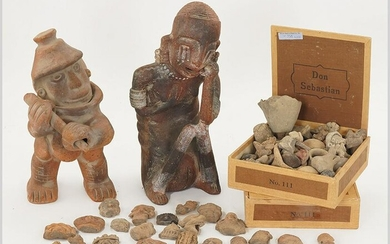 Two Pre-Colombian Style Pottery Figures.