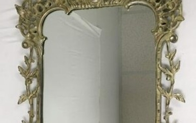 VINTAGE CHIPPENDALE STYLE WALL MIRROR