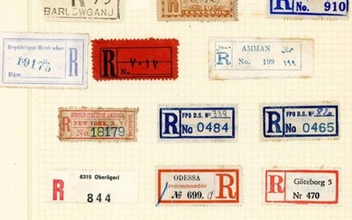 WORLD REGISTRATION LABEL COLLECTION - most countries, early ...