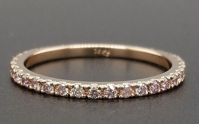 0.35ct Natural Fancy Mix Pink Diamonds - 14 kt. Pink gold - Ring - ***No Reserve Price***