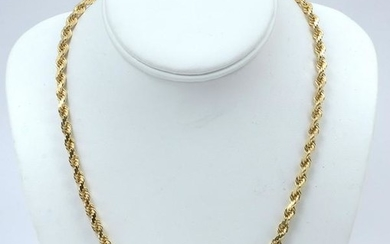 14K 49.14 GRAM SOLID ROPE CHAIN
