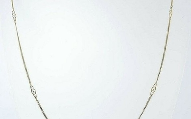 14k GOLD FOX TAIL LINK CHAIN