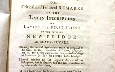 1761 Plain English in Answer to City Latin by a Deputy