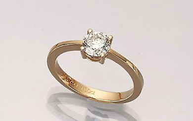 18 kt gold ring with brilliant-solitaire