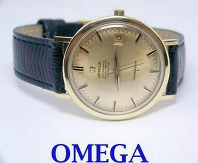 18k OMEGA CONSTELLATION Date Automatic Watch 1960s Cal