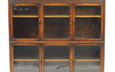 1920's oak sectional bookcase by Gumm with four doors