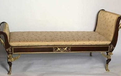19TH C. EMPIRE STYLE ORMOLU MOUNTED DAYBED