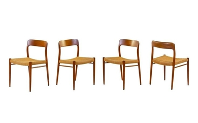 Nils Otto Moller Set of Four Dining ChairsJ. L.
