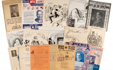 43537: James Michael Curley: Assorted Ephemera. Group o