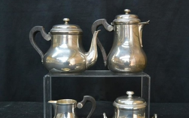 (4)c FRENCH STERLING SILVER TEA SET CONSISTING