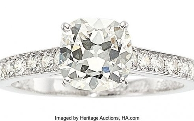 55337: Diamond, White Gold Ring, Cartier, French The
