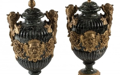 61037: A Pair of Large Regence-Style Gilt Bronze Mounte