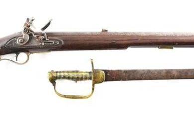 (A) A TOWER SERVICE PATTERN 1800 BAKER RIFLE AND SWORD