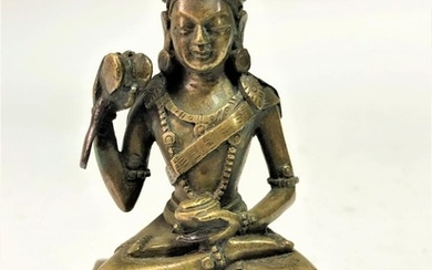 A Bronze Figure of The Mahasiddha Damarupa (the Drummer).