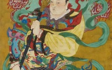 A DAOIST PAINTING OF A HEAVENLY GENERAL.