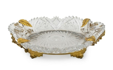 A French Gilt Bronze Mounted Cut Crystal Centerpiece