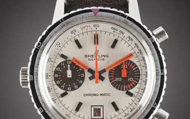 A GENTLEMAN'S STAINLESS STEEL BREITLING CHRONOMATIC