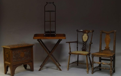A George III style mahogany butler's tray on stand, second...