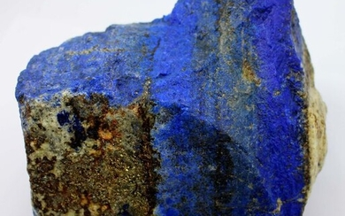 A-Grade Stunning Large Royal Blue Lapis Lazuli with Pyrite Rough Specimen - 145×122×170 mm - 3388 g