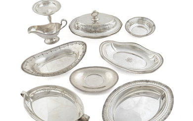 A Group of American Silver and Silverplate Table Articles