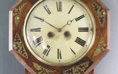 A Mid 19th Century German Rosewood Cased Drop Dial...