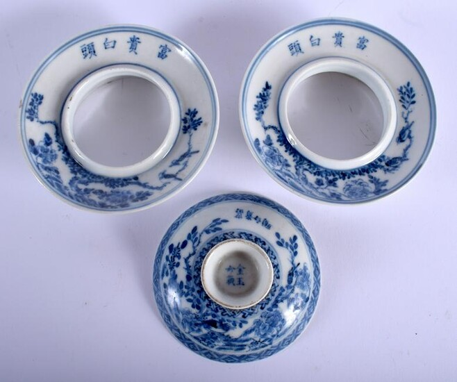 A PAIR OF 19TH CENTURY CHINESE BLUE AND WHITE PORCELAIN