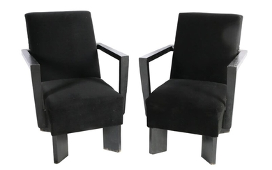 A PAIR OF MODERN ARMCHAIRS