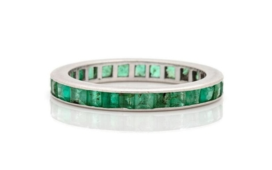 A Platinum and Emerald Eternity Band,