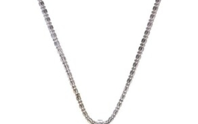 A SOUTH SEA PEARL AND DIAMOND NECKLACE