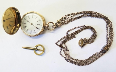 A Vacheron Constantin Full Hunter Fob Watch in a gold and bl...