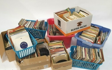 A large collection of 7 inch singles, dating from the 1960s...