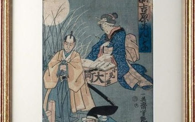 ANDO HIROSHIGE A Japanese print depicting a lady